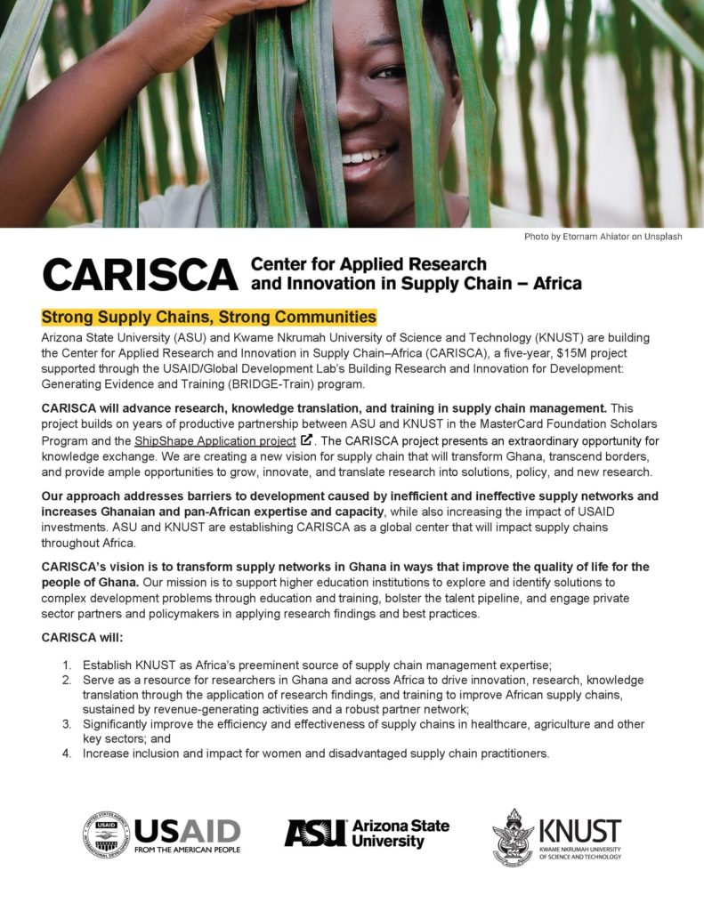 CARISCA Overview (one-pager, PDF download)