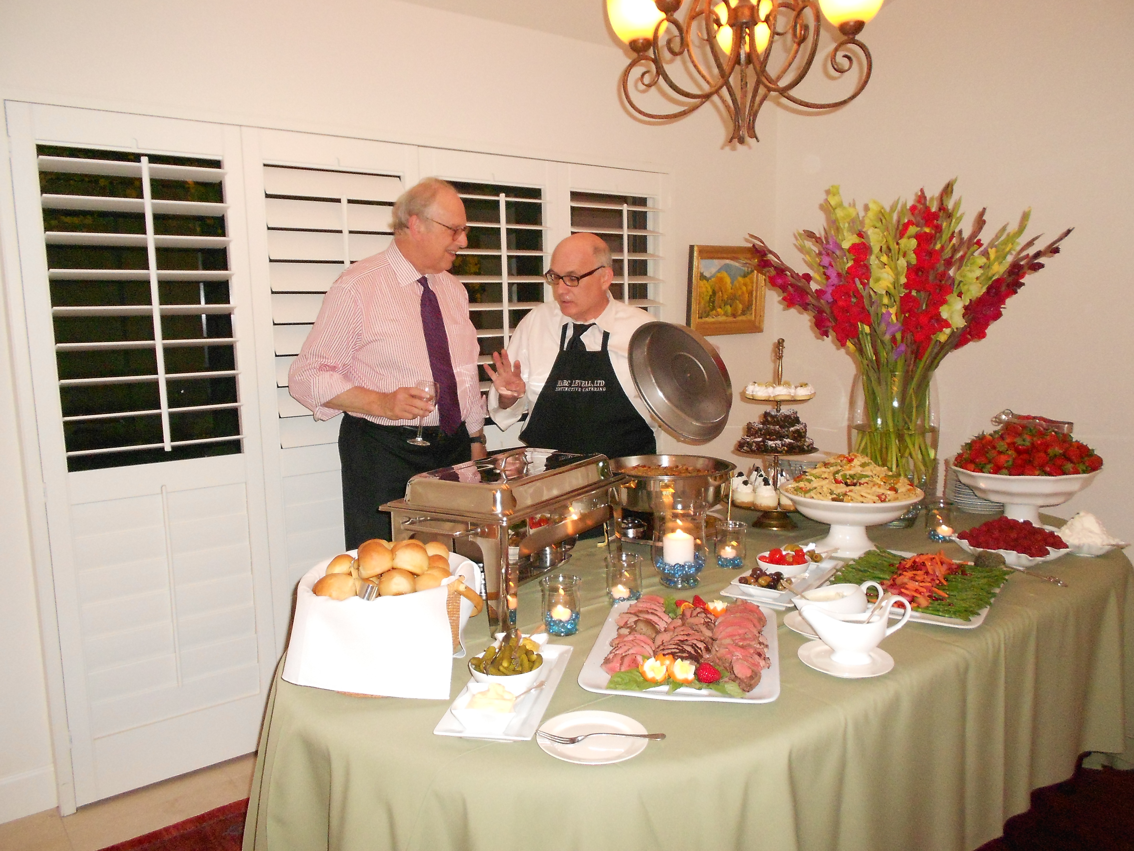 Michael Hanemann hosts conference dinner in his home. May 2, 2014
